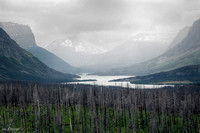 St Mary Lake Valley with Storm