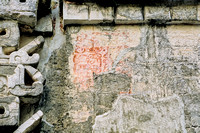 Chicanna - Structure 2 - red glyphs near doorway