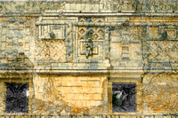 Uxmal - entwined serpents, Nunnery Quad.