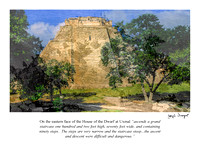 Uxmal - House of Dwarfs, E. side -