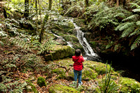Leah at Waterfall in Barrington Tops National Park