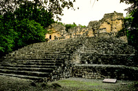 Calakmul   - Structure 3 - steps leading up