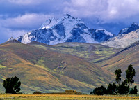 Isolated Farm, Mountains, glaciers, Peruvian altiplano