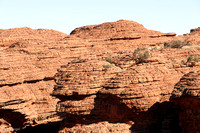 Rock domes from erosion and vertical cracks