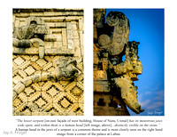 Uxmal - Head of Serpent, West Building, Nunnery QUad.