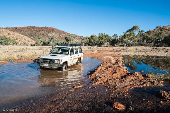 A rough spot on the track into D'Dhala Gorge, East MacDonnell Ranges