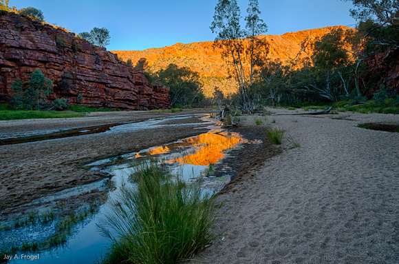 Sunset, Trephina Gorge, East MacDonnell Ranges