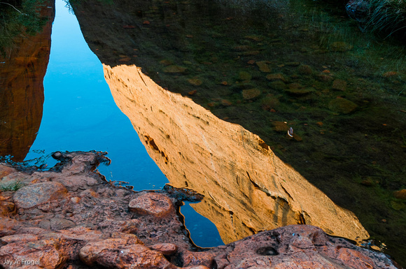 Reflection in still Water, Olga Gorge