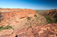 Looking out to the mouth of Kings Canyon from the rim