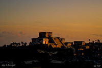 Tulum:  El Castillo at Sunset