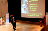 Opening Ceremony for physics winners -  Brian lecturing