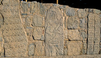 Ruins of Sechin - 1600 BC - bas-relief of warrior