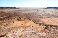 Dry expanse at the Breakaways near Coober Pedy